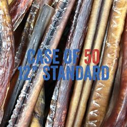 USA Odorless Standard 12'' Bully Sticks - Bulk - No Packaging
