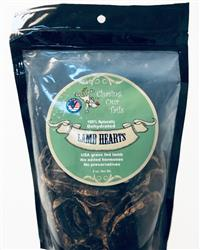 Dehydrated Lamb Heart Dog Treats, 5 oz Bag