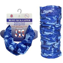 Ruffy Gaiter CAMO DOGS BLUE by Huxley & Kent