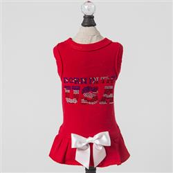 Born in the USA Dog Dress: Red