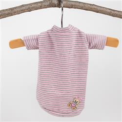 Candy Striped Dog Tee: Pink