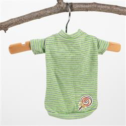 Candy Striped Dog Tee: Green