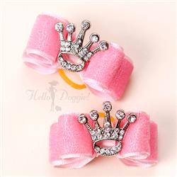Crystal Crown Dog Hair Bow