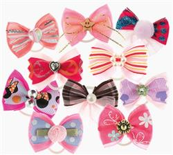 Pink Fashion Bows Pack Of 100 by Groom Professional