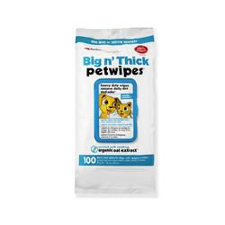 Petkin Big N' Thick Petwipes - 100 count