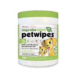 Petkin Extra Mega Valu Natural Petwipes - 200 count