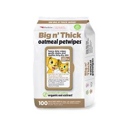 Petkin Big N' Thick Oatmeal Petwipes - 100 count
