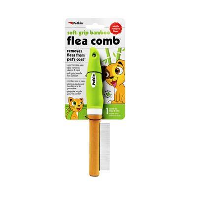 Petkin Soft Grip Bamboo Flea Comb