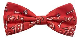 Bone-Dana Red Bow Tie by Huxley & Kent