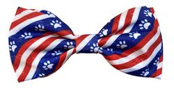 Paws & Stripes Bow Tie by Huxley & Kent