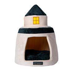 LIGHT HOUSE SHAPE MICRO FLEES PET BED - BLUE