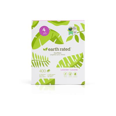 """Pet Grooming Wipes (100 count 8"""" x 8"""") by Earth Rated"""