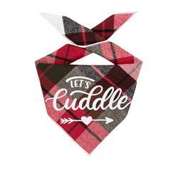 Plaid Dog Bandana | Luxe Flannel dog bandana is Reversible | Christmas Bandana Gift