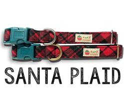 Santa Plaid – Organic Cotton Collars & Leashes