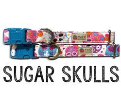 Sugar Skulls – Organic Cotton Collars & Leashes