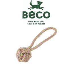 BECO - Hemp Rope Ball with Handle Tough Dog Toy