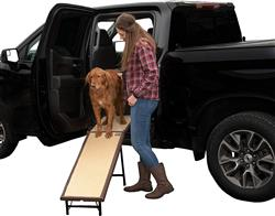 Chocolate Ultra-Lite Free-Standing Pet Ramp With Extension Panel