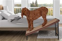 Chocolate Ultra-Lite Free-Standing Pet Ramp With Supertrax