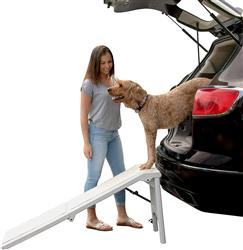 Free-Standing Pet Ramp With Supertrax - Essential Grey