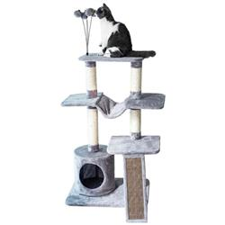 Catry Four-Level Cat Tree Condo Gray