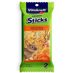 Vitakraft Crunch Sticks Carrot & Honey Flavored Glaze Rabbit Treat 3oz