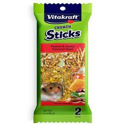 Vitakraft Crunch Sticks Peanut & Honey Flavored Glaze Hamsters Treat 3oz