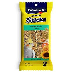 Vitakraft Crunch Sticks Golden Honey Flavor Bird Treat for Cockatiels 3.5oz