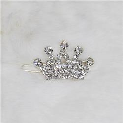 Crystal Crown Barrette: Crystal