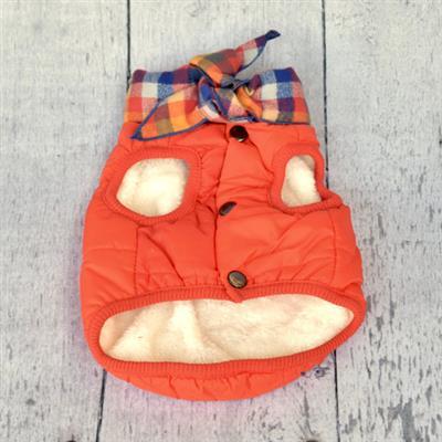Orange Baxter Bandana Puffer Jacket
