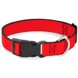 Plastic Clip Collar - Red