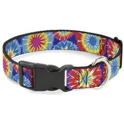 Plastic Clip Collar - 70's Tie Dye