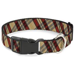 Plastic Clip Collar - Americana Plaid X
