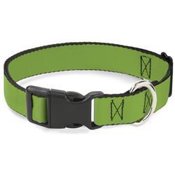 Plastic Clip Collar - Lime Green