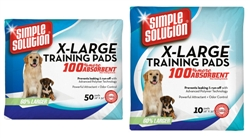 Simple Solution® - Extra Large Training Pads 50 PACK  .....