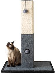 Catry, Large Cat Tree Cat Scratching Post with Natural Sisal Rope and Toys