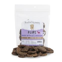 95% Venison Flips - 8.5 oz Bag