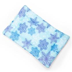 Snowflake Printed Fleece Fabric Flat Pet Bed