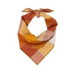 Flannel Dog Bandana, Plaid Bandana, Fall Bandana, High Quality Fabric, Rust, Orange, Copper