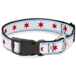 Plastic Clip Collar - Chicago Flag