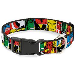 Plastic Clip Collar - Marvel Superhero Comic Blocks