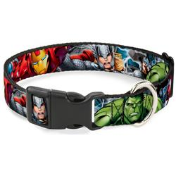 Plastic Clip Collar - Marvel Avengers 4-Superhero Poses CLOSE-UP