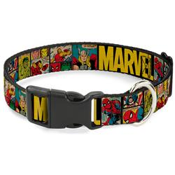 Plastic Clip Collar - MARVEL/Retro Comic Panels Black/Yellow