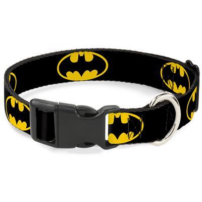 Plastic Clip Collar - Batman Shield Black/Yellow