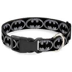 Plastic Clip Collar - Batman Shield Black/Silver
