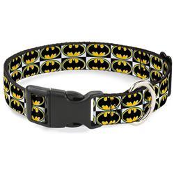 Plastic Clip Collar - Batman Shield Checkers