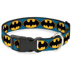 Plastic Clip Collar - Bat Signal-3 Blue/Black/Yellow
