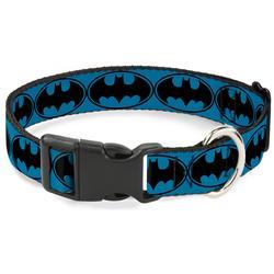 Plastic Clip Collar - Bat Signal-3 Blue/Black/Blue