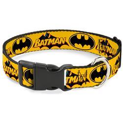 Plastic Clip Collar - Vintage Batman Logo & Bat Signal-3 Yellow