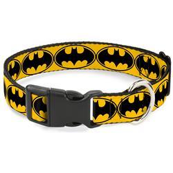 Plastic Clip Collar - Bat Signal-3 Yellow/Black/Yellow