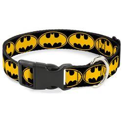 Plastic Clip Collar - Bat Signal-3 Black/Yellow/Black